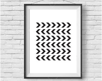 Minimalist Chevron Print Scandinavian Art Chevron Poster Printable Art Chevron Home Decor Black & White Geometric Wall Poster Large Poster