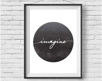 Inspirational Print, Inspirational Art, Downloadable Print, Black & white Print, Printable Wall Art, Black and White Poster, Inspire Poster