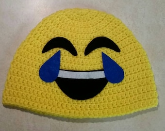 Laughing Emoji Hat/ any size