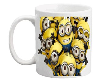 Minion 15 oz coffee mug. Include name, picture, monogram, date to your favorite yellow guys