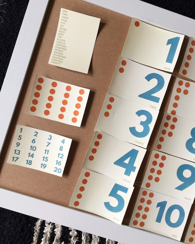 graphic relating to Number Flash Cards Printable 1-20 called Printable Montessori Selection Flash Playing cards 1-20 Preschool, Kindergarten, To start with Quality Math and Counting Playing cards