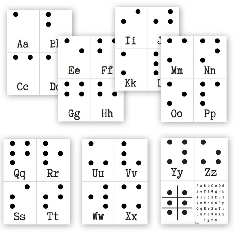 photograph relating to Printable Braille Alphabet referred to as Braille Alphabet Playing cards 5 Senses Obtain Homeschool Elements  Homeschool Curriculum Braille Flash Playing cards Lifted Alphabet