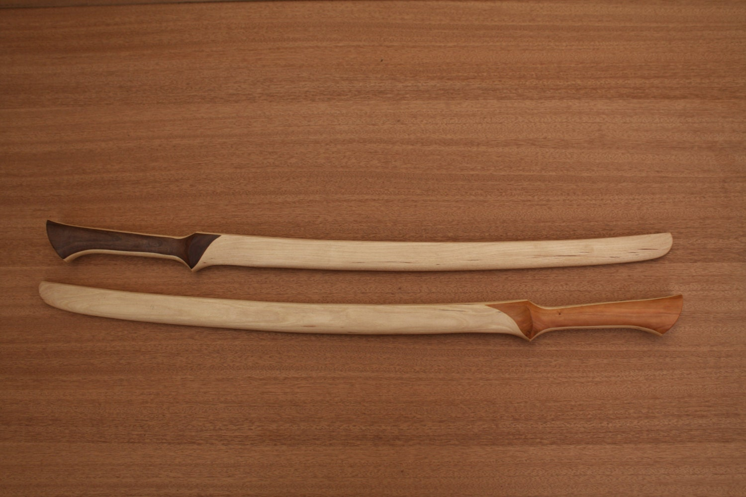 Elven Fighter Sword-Straight Grip- Handcrafted from Solid American Hickory