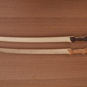handcrafted from solid American Hickory Wooden Assassin Dagger-curved blade
