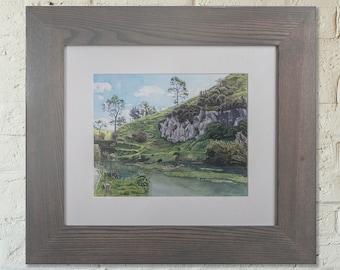 Te Waihu Walkway/Blue Springs Original Watercolour *LOCAL PICKUP ONLY*