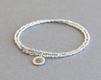 Silver Bracelet Silver Wrap Bracelet Fine Silver Bracelet Hill Tribe Silver Stackable Bracelet Gift for Her