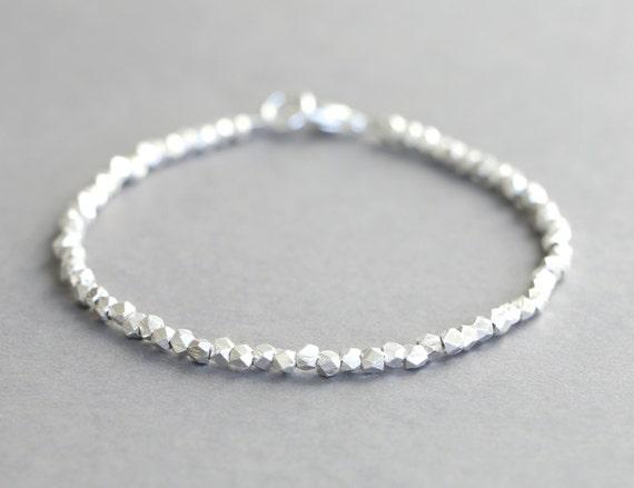 Hill Tribe Silver Bracelet Simple Silver Bracelet Stacking Etsy
