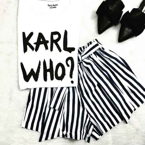 Karl Who?  / Statement Tank / Graphic Tank / Statement Tshirt / Graphic Tshirt / Statement Tee / Graphic Tee  / T shirt / Tank