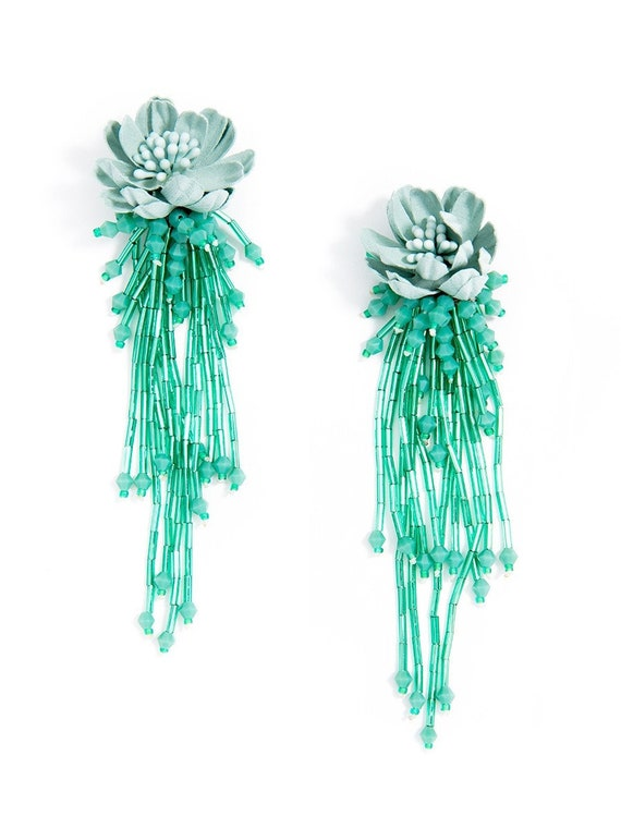 Donna Wild Lotus Drop Statement Earring
