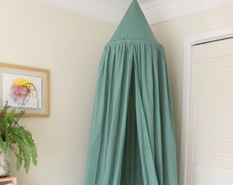 BED CANOPY/ Bed voile / Reading corner / Bed sky/ Seafoam