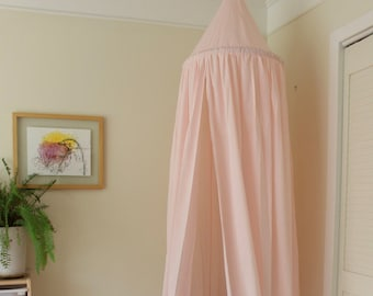 BED CANOPY/ Bed voile / Reading corner / Bed sky/ Peachy pink