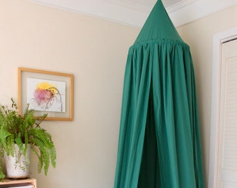 BED CANOPY/ Bed voile / Reading corner / Bed sky/ Emerald