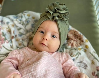 Turban- baby and kids hat- Bamboo jersey- Taupe