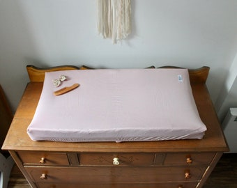 Diaper change mat cover- DUSTY LILAC