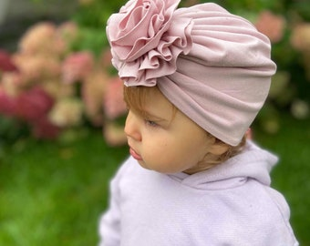 Turban- baby and kids hat- Bamboo jersey- Dust lilac