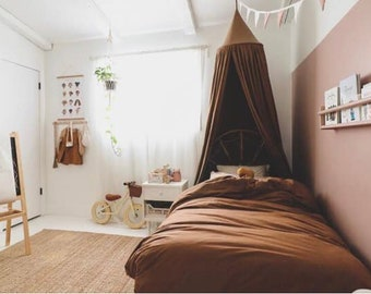 BED CANOPY/ Bed voile / Reading corner / Bed sky/ Dark chocolate