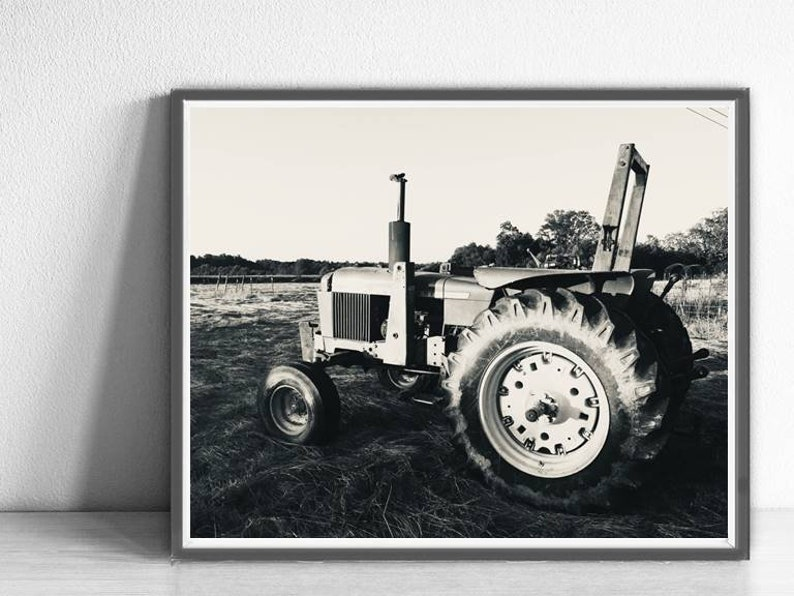 graphic about John Deere Printable called Printable Prompt Obtain Black and White John Deere Tractor Classic Tractor Photograph Farm Pictures Tractor Print Boys State Area