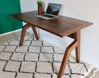 Outstanding Solid Wood Desk Etsy Home Remodeling Inspirations Basidirectenergyitoicom