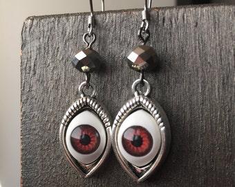 halloween earrings silver costume accessories halloween costume eyeball halloween jewelry halloween earrings eyeballs eye earrings