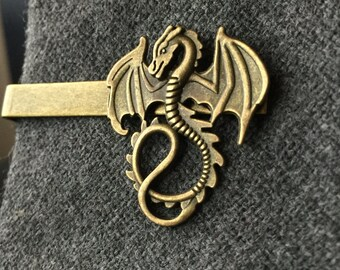 Gifts Ideas for Geeks - Dragon Tie Clip - Mens Stocking Stuffer - Tie Clips Men
