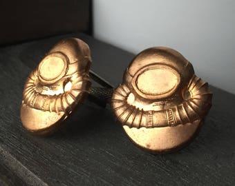 Men's Steampunk Jewelry - Steampunk Cufflinks - Steampunk Diver - Mens Tie Clip - Tie Clips Men