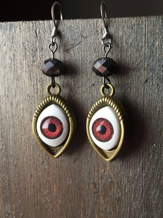 eye earrings for halloween earrings eyeballs halloween jewelry eyeball earrings hypoallergenic earrings for halloween costume