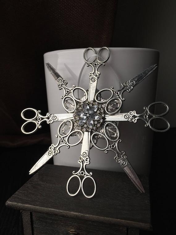 Scissor Snowflake Christmas Ornament