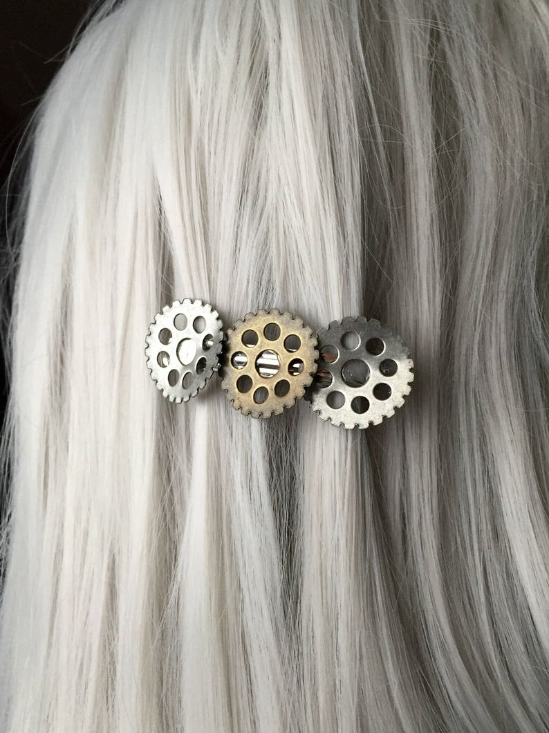 steampunk room decor.htm bent gear apocalypse costume hair clip hair accessories for etsy  bent gear apocalypse costume hair clip