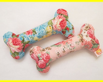 Personalized Dog Toy with Squeakers - Various Quilt Designs - Small, Medium and Large Sizes