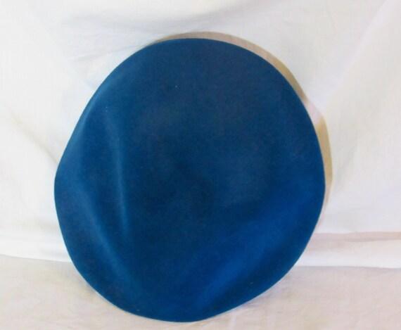 Vintage Hat Teal Blue Beret Blue Tilt Hat 1950s T… - image 6