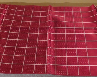 Mens Scarf Vintage Tuxedo Scarf Made in France Red White Scarf