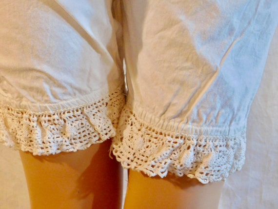 Vintage Bloomers White Cotton Bloomers Lace Bloom… - image 3