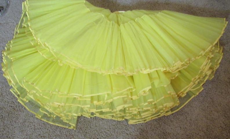 Vintage Crinoline Yellow Crinoline Square Dancing Crinoline Rockabilly Yellow Crinoline