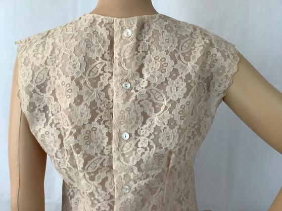 Vintage Lace Blouse Antique Lace Sleeveless Top - image 10