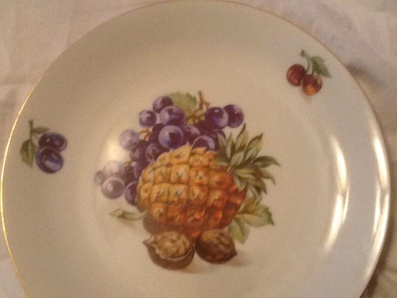 Vintage Bohemia Czechoslovakia Dessert Plates Set of 4