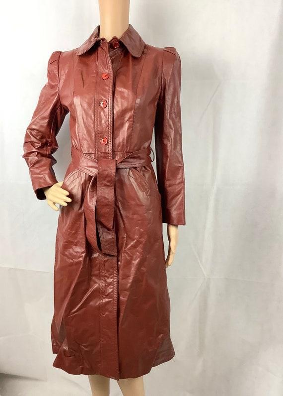 Vintage Leather Coat Ladies Knee Length Leather Co