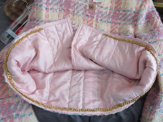 Vintage Pink Plaid Wool Suit Richard Carriere For… - image 8