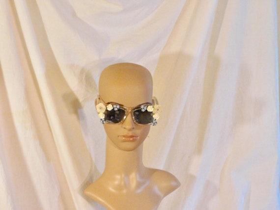 Vintage Sunglasses Mirrored Floral Sunglasses Fest