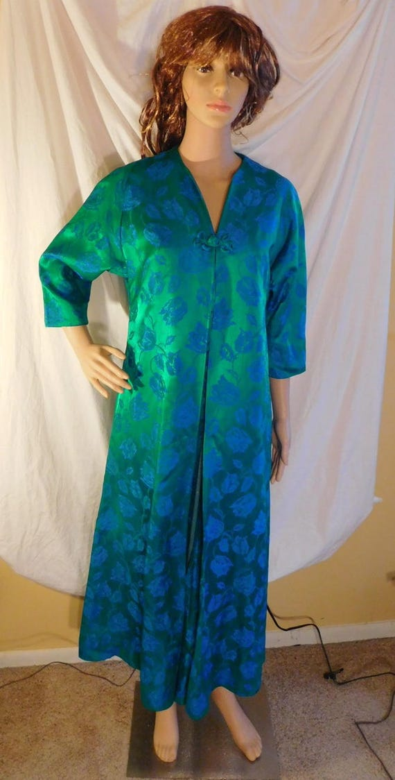 Fifth Avenue Robe Vintage Robe Emerald Green Blue