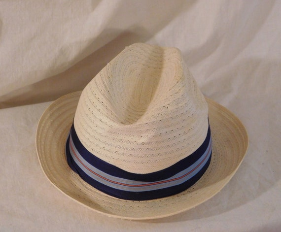 Vintage Panama Hat by Haband Designer Jim Williams White Panama Hat Mens  Summer Hat