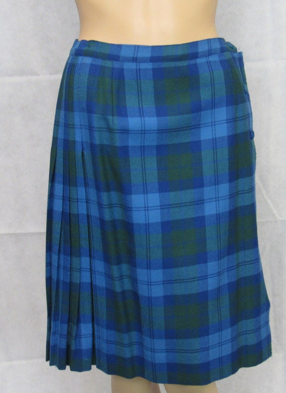 Aljean Wool Tartan Kilt Skirt 100% Wool Plaid Kilt