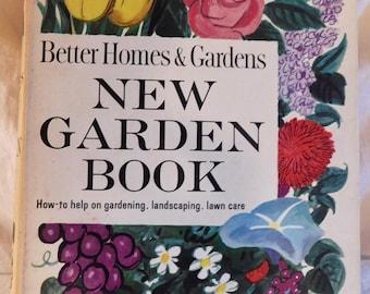 Better Homes And Gardens New Garden Book 1961 Vintage Book MCM Garden Design