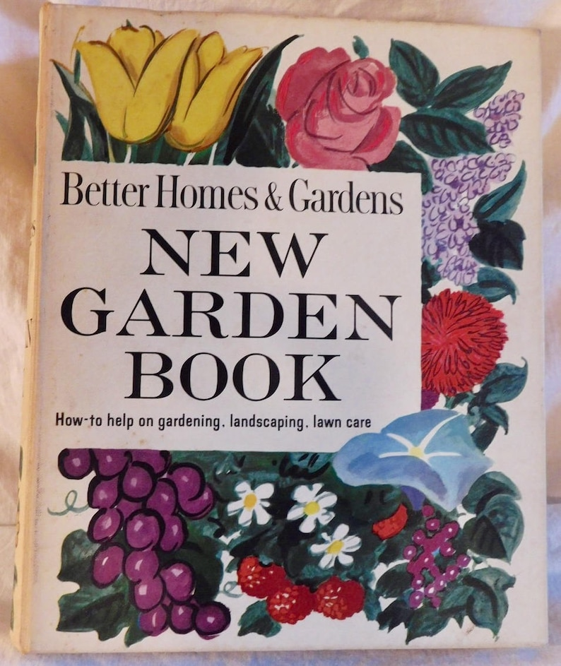 Better Homes And Gardens New Garden Book 1961 Vintage Book Mcm Etsy