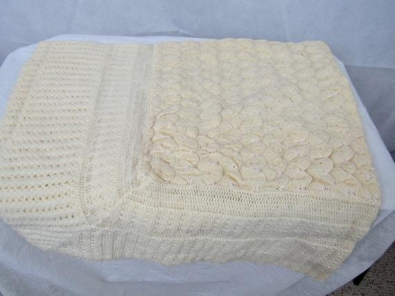 Vintage Christening Blanket 1950s Baby Blanket Cre