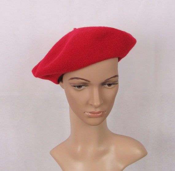 Vintage Betmar Wool Beret Red Wool Beret Ladies Be