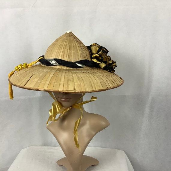 Vintage Hats Asian Bamboo Hat Sun Hats