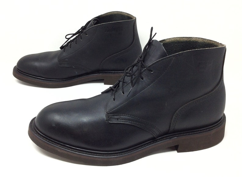 41233fc5f16 EH Rated Boots -Black Leather -Sz. 10 R -Lace Up -Ankle Boots -Steel/  Safety Toe -Electricity Protection -Work Boots