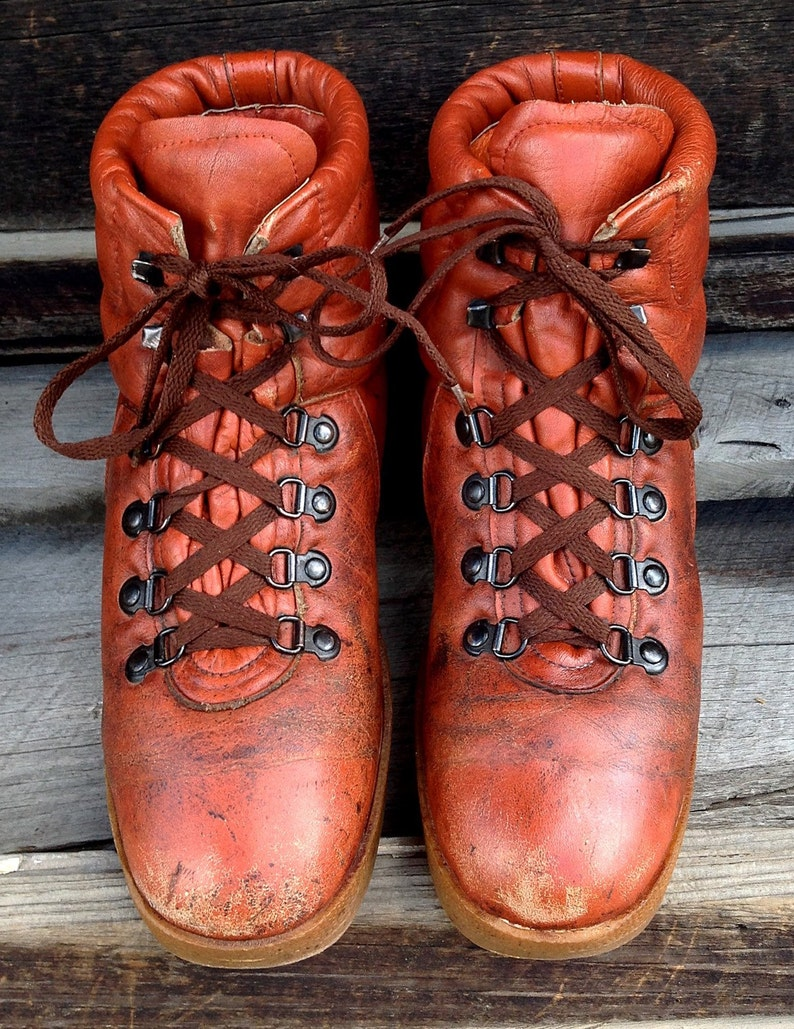 10 12 M Men/'s Vintage Weeds By Florsheim Red Brown Leather Ankle Hiking Casual Boots Sz