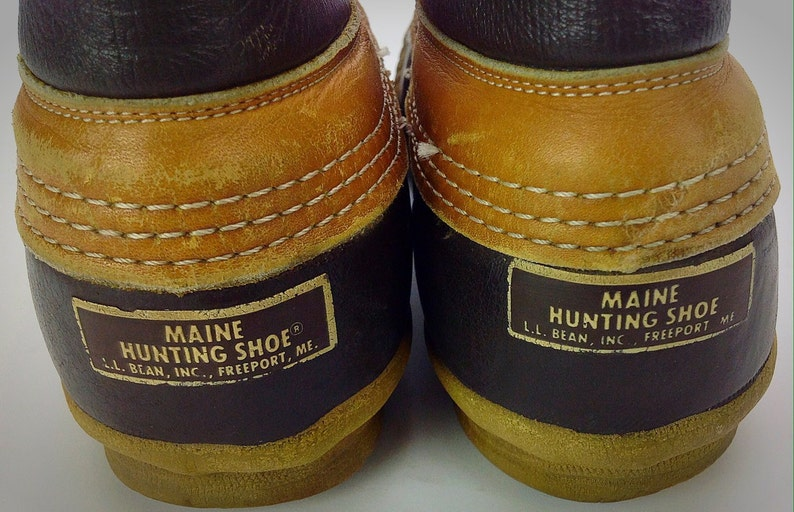 4b3fcec5ce01b Men's Vintage L.L. Bean Maine Hunting Shoe Tan Leather | Etsy