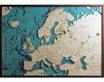 Europa Meridionale Cartina.Mappa Di Europa Meridionale Etsy